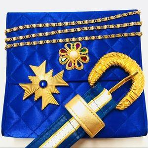 EUC 90s Vintage Carla Marchi jewel crossbody bag